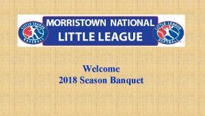 Welcome 2018 Season Banquet I pledge allegiance to