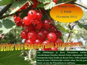 BotanikTestat 2 Runde November 2012 Die Abbildungen in