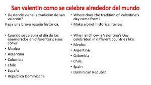 San valentin como se celebra alrededor del mundo