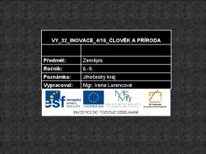 VY32INOVACE416LOVK A PRODA Pedmt Zempis Ronk 6 9