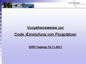 Airport Partners Gmb H Vorgehensweise zur Code Einstufung