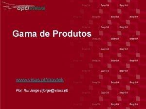 Gama de Produtos www visus ptdraytek Por Rui