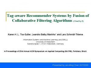 Tagaware Recommender Systems by Fusion of Collaborative Filtering