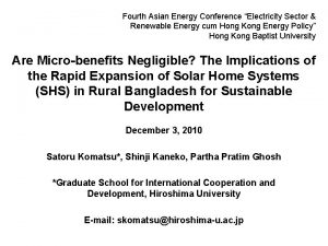 Fourth Asian Energy Conference Electricity Sector Renewable Energy