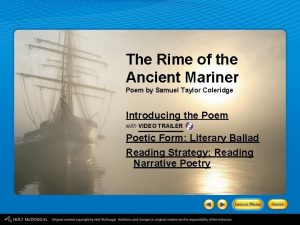 The Rime of the Ancient Mariner Poem by
