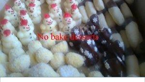 No bake desserts Basic ingredients Sugar icing sugar