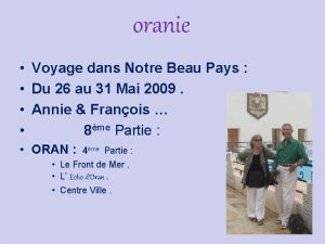 oranie Voyage dans Notre Beau Pays Du 26