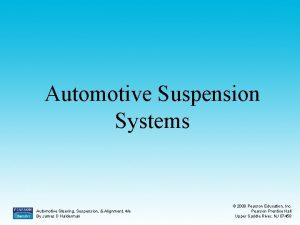 Automotive Suspension Systems Automotive Steering Suspension Alignment 4e