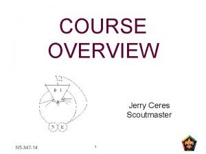 COURSE OVERVIEW Jerry Ceres Scoutmaster N 5 347