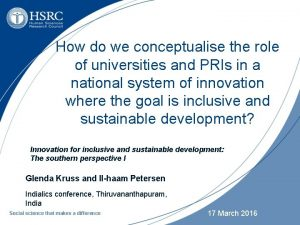 How do we conceptualise the role of universities
