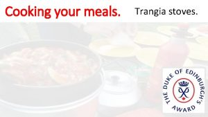 Cooking your meals Trangia stoves Cooking your meals