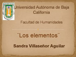 Universidad Autnoma de Baja California Facultad de Humanidades