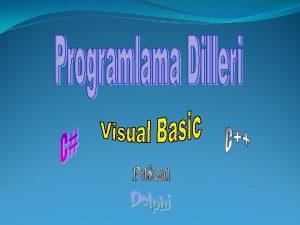 Programlama dilleri 2 eittir 1 Alt Seviyeli Programlama
