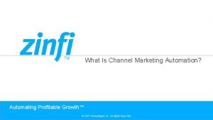 What Is Channel Marketing Automation Automating Profitable Growth