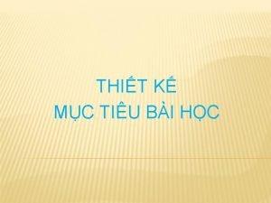 THIT K MC TIU BI HC I Khi
