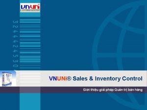 VNUNi Sales Inventory Control Gii thiu gii php