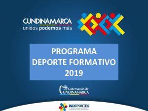 PROGRAMA DEPORTE FORMATIVO 2019 GUA JUEGOS PRE DEPORTIVOS