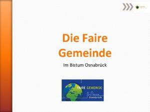 Die Faire Gemeinde Im Bistum Osnabrck Wie wird
