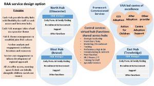 RAA service design option Principles Each Hub provide