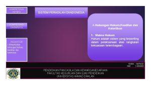 KOMPETENSI INTIKI KOMPETENSI DASARKD INDIKATOR 1 Menjelaskan hubungan