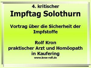 4 kritischer Impftag Solothurn Vortrag ber die Sicherheit