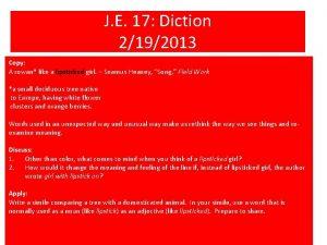 J E 17 Diction 2192013 Copy A rowan