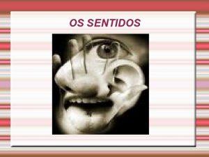OS SENTIDOS OS RGOS DOS SENTIDOS As terminaes