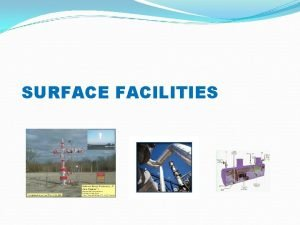 SURFACE FACILITIES Surface Production System choke separator gas