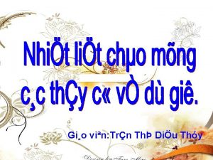 Gio vin Trn Th Diu Thy Truyn dn