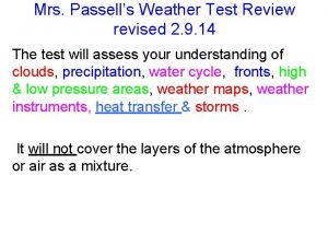 Mrs Passells Weather Test Review revised 2 9