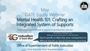 May GATE Equity Webinar Mental Health 101 Crafting