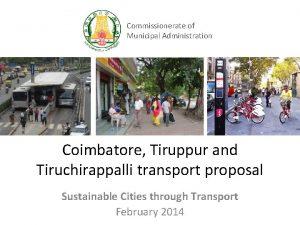 Commissionerate of Municipal Administration Coimbatore Tiruppur and Tiruchirappalli