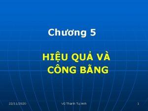 Chng 5 HIU QU V CNG BNG 22112020