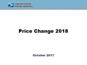 Price Change 2018 October 2017 2018 Price Change