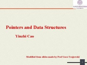 Pointers and Data Structures Yinzhi Cao Modified from