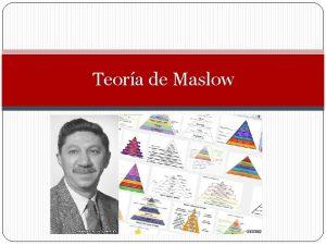Teora de Maslow Pirmide de Maslow La pirmide