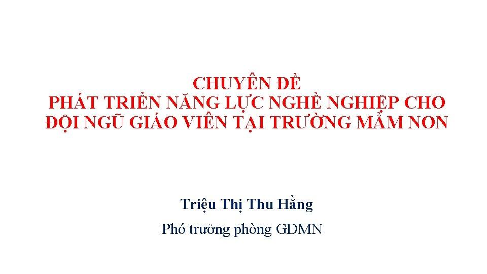 CHUYN PHT TRIN NNG LC NGH NGHIP CHO