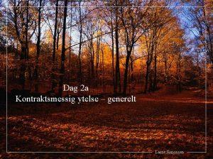 Dag 2 a Kontraktsmessig ytelse generelt Lasse Simonsen