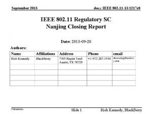 September 2013 doc IEEE 802 11 131217 r
