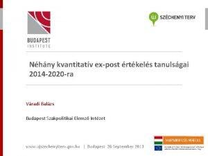 Nhny kvantitatv expost rtkels tanulsgai 2014 2020 ra