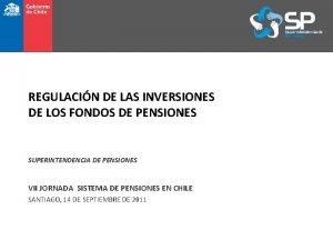REGULACIN DE LAS INVERSIONES DE LOS FONDOS DE