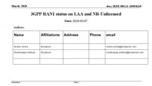 March 2018 doc IEEE 802 11 180542 r