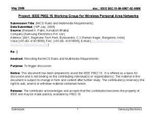 May 2009 doc IEEE 802 15 09 0567
