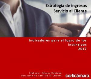Estrategia de ingresos Servicio al Cliente Indicadores para