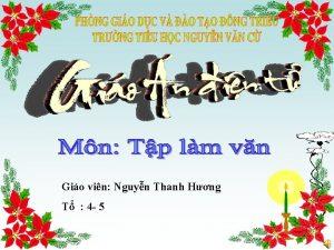Gio vin Nguyn Thanh Hng T 4 5