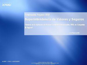 Presentacin Proyecto IFRS Superintendencia de Valores y Seguros
