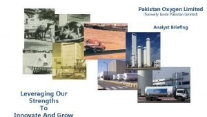 Pakistan Oxygen Limited formerly Linde Pakistan Limited Analyst