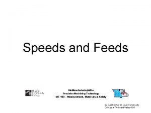 Speeds and Feeds Mo Manufacturing WINs Precision Machining