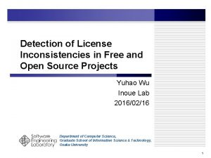 Detection of License Inconsistencies in Free and Open