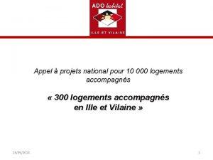 Appel projets national pour 10 000 logements accompagns